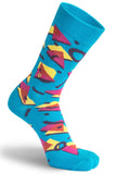 The Moja Club Memphis Blue Socks