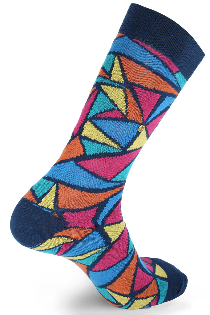 The Moja Club Rainbow Funk Socks