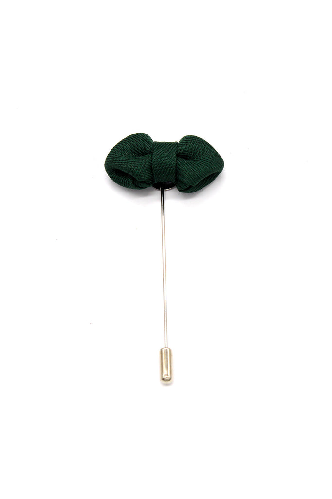 Sharp Bow Tie Lapel Pin, Olive Green