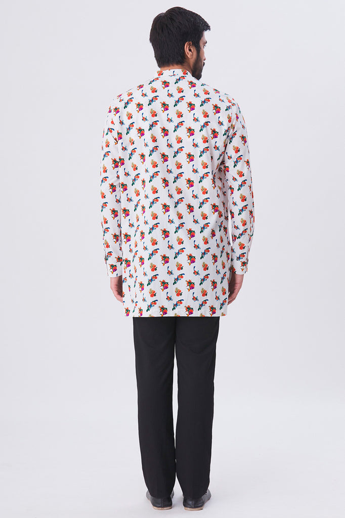Oliver Mandarin Collar All-over Printed Shirt