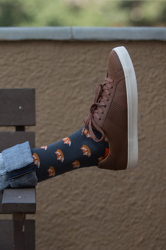 Mr. Fox Crew Socks