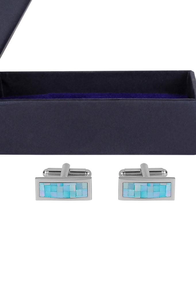 Blue Brick Mother of Pearl Cufflinks