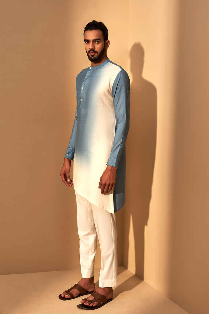 BLUE IVORY DIP DYED KURTA SET