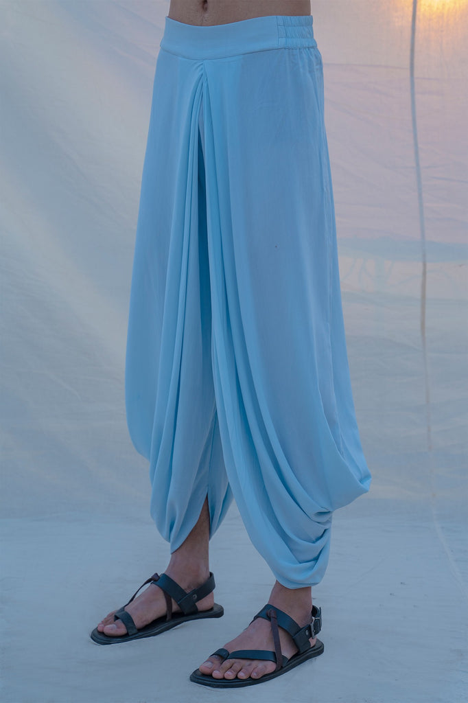 Cotton X Rayon Drenched in Aqua Dhoti