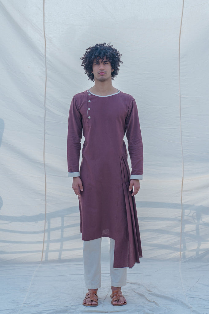 Cotton X Linen Brown Kurta