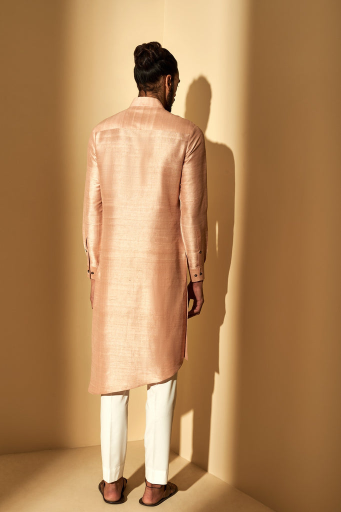 SAND ROSE METAL EMBROIDERY KURTA SET