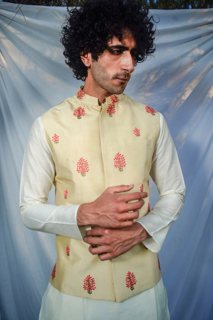 The Stem Flower Nehru Jacket
