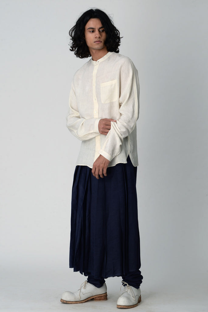 Jalndary band collar shirt