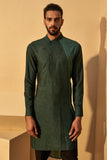 FOREST GREEN PRINTED KURTA SET