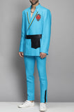 Aqua Blue Double Suit Set