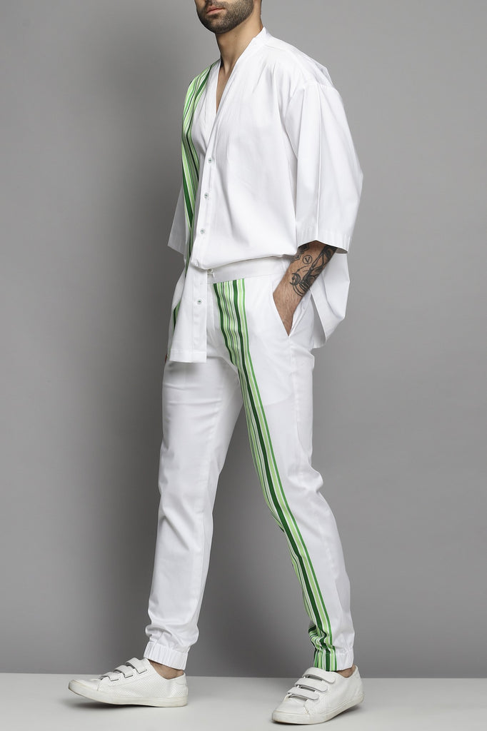 White Jogger With Trouser