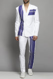 White Double Breasted Suit Set
