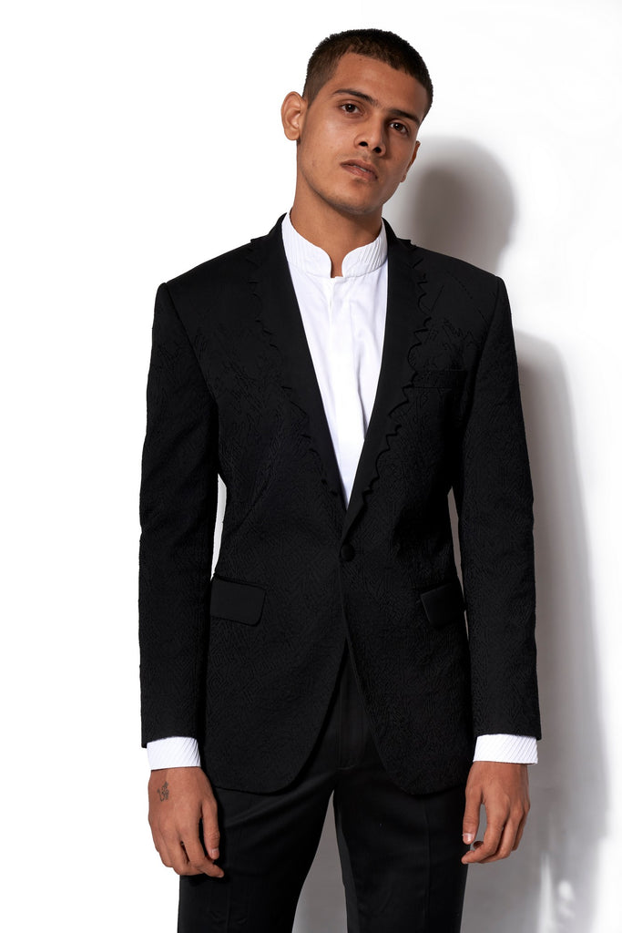 Black Embroidered Tuxedo