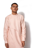Peach Asymmetrical Kurta Set