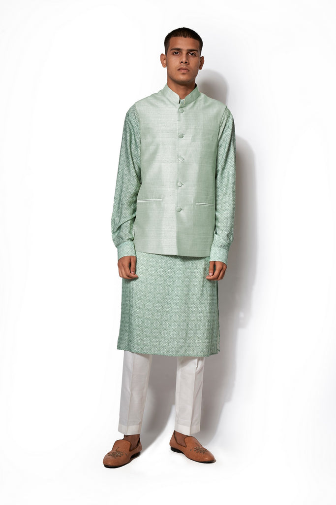 Mint Green Bandi Kurta Set