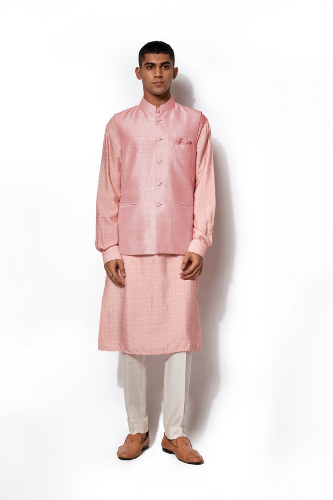 Blush Pink Bandi Kurta Set
