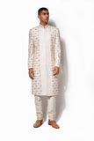 Ivory Hand Embroidered Sherwani Set
