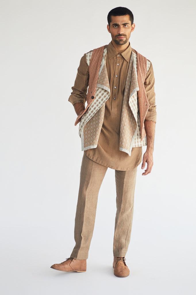 waist coat jacket with kurta and trouser