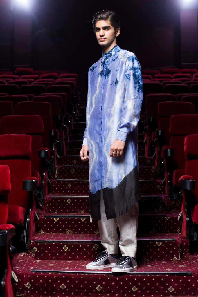 Silk tie and dye kurta shirts