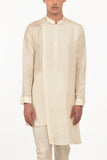 OFF WHITE SILK KURTA