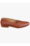 Men Tan Leather Mojoris