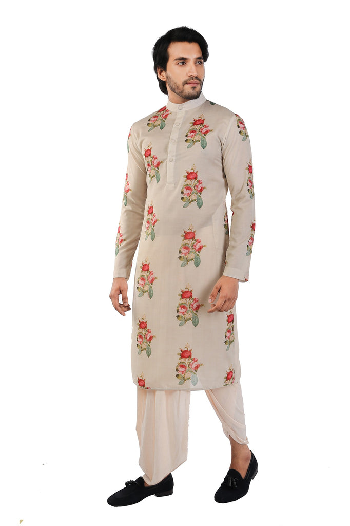 Muslin Multicoloured Cotton Silk Kurta
