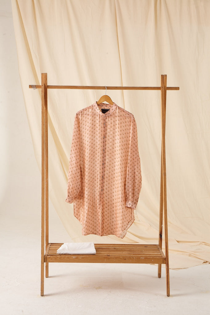 The Peach Bageecha Cotton Kurta Pajama Set