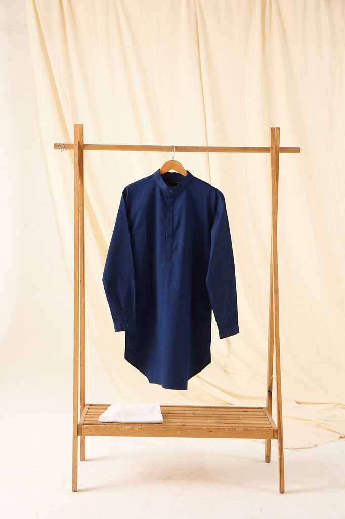 The Navy Cotton Kurta Pajama Set