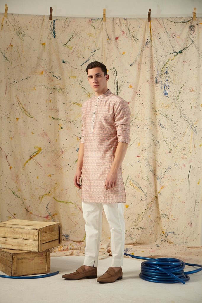 The Silver Sage Cotton Kurta Pajama Set