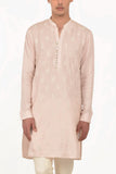 FEATHER PINK KURTA SET