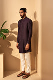 SHADOW PLUM TRENCH STYLE KURTA SET