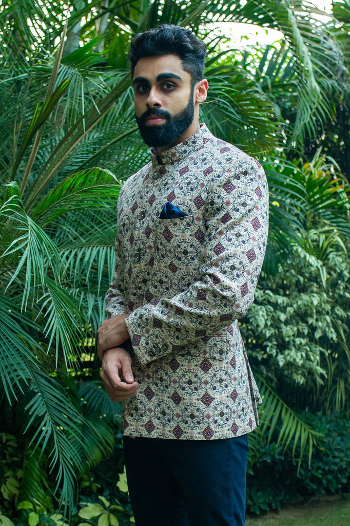 Tropical Collection Bandgala - Mughal Print