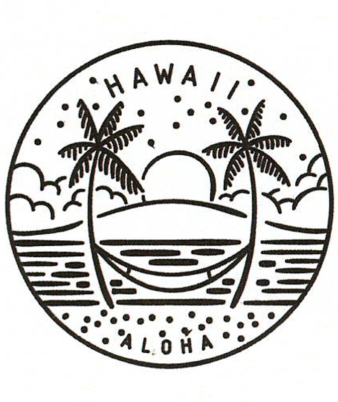 Hawaii Crest miniSwoodTM (Wood Sticker)