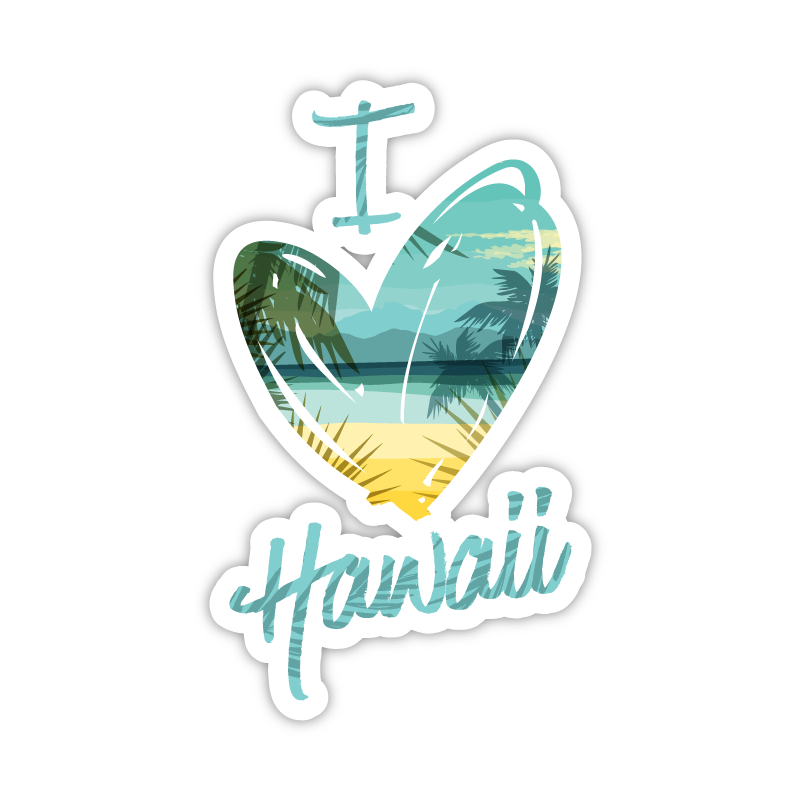 I Heart Hawaii Beach Font