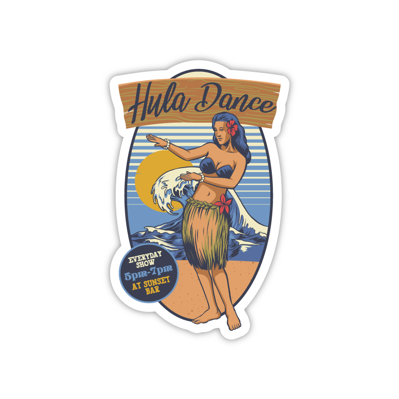 Hula Dancer with Wave