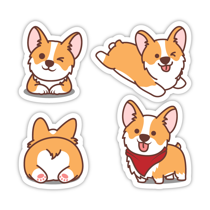 Four Corgis Set