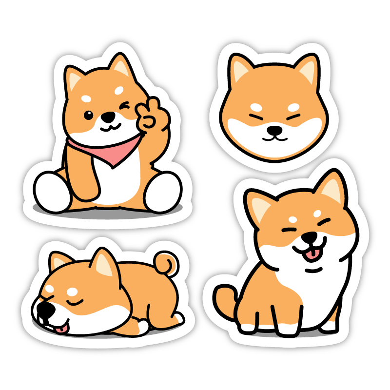 Four Shibas Set