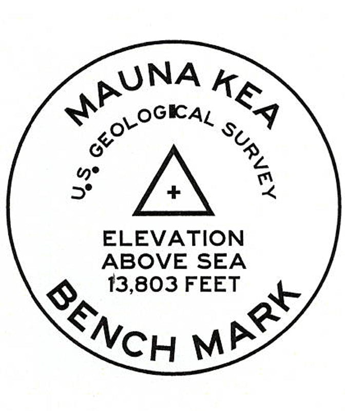 Mauna Kea Benchmark miniSwoodTM (Wood Sticker)