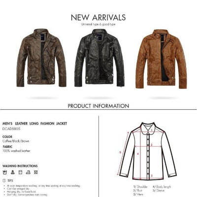 High Quality Men's Leather Motorcycle Jacket