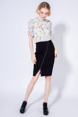 *Sales* Josephine Jersey Pencil Skirt with Contrast Stitching