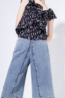 *Restocked* Holland Two-Way Denim Culottes in Light Wash