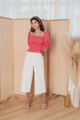 Morgan Wide-Legged Trousers in White