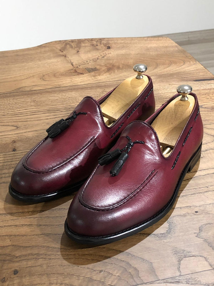 Claret Loafer Shoes
