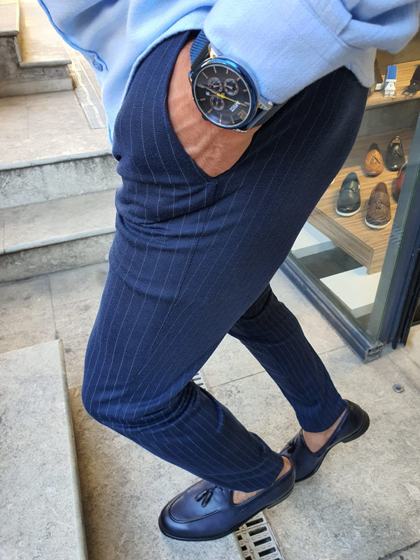 Striped Indigo Pants