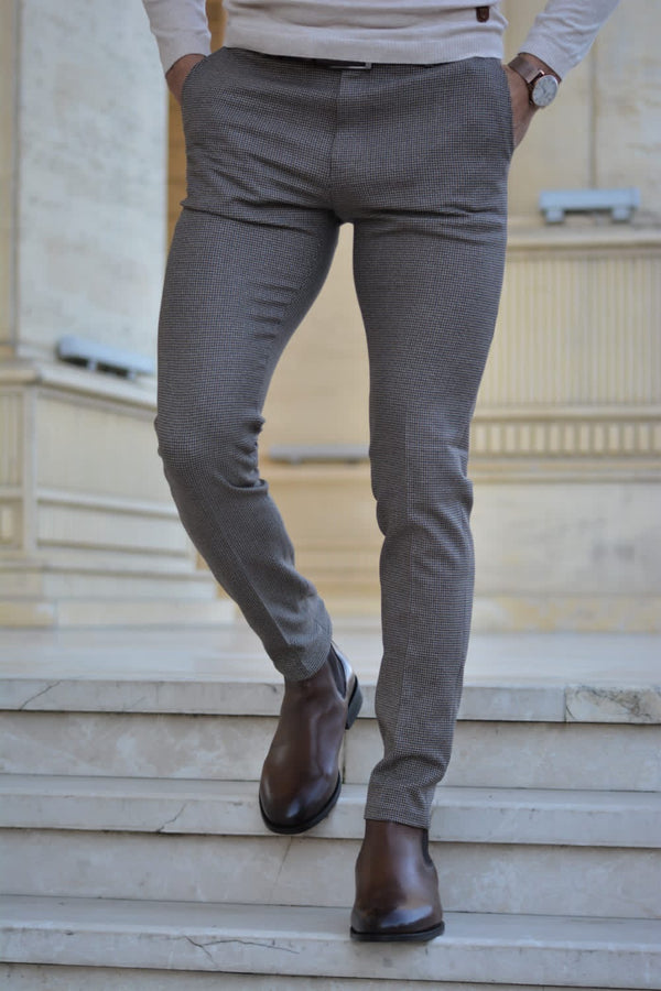 Patterned Gray Pants