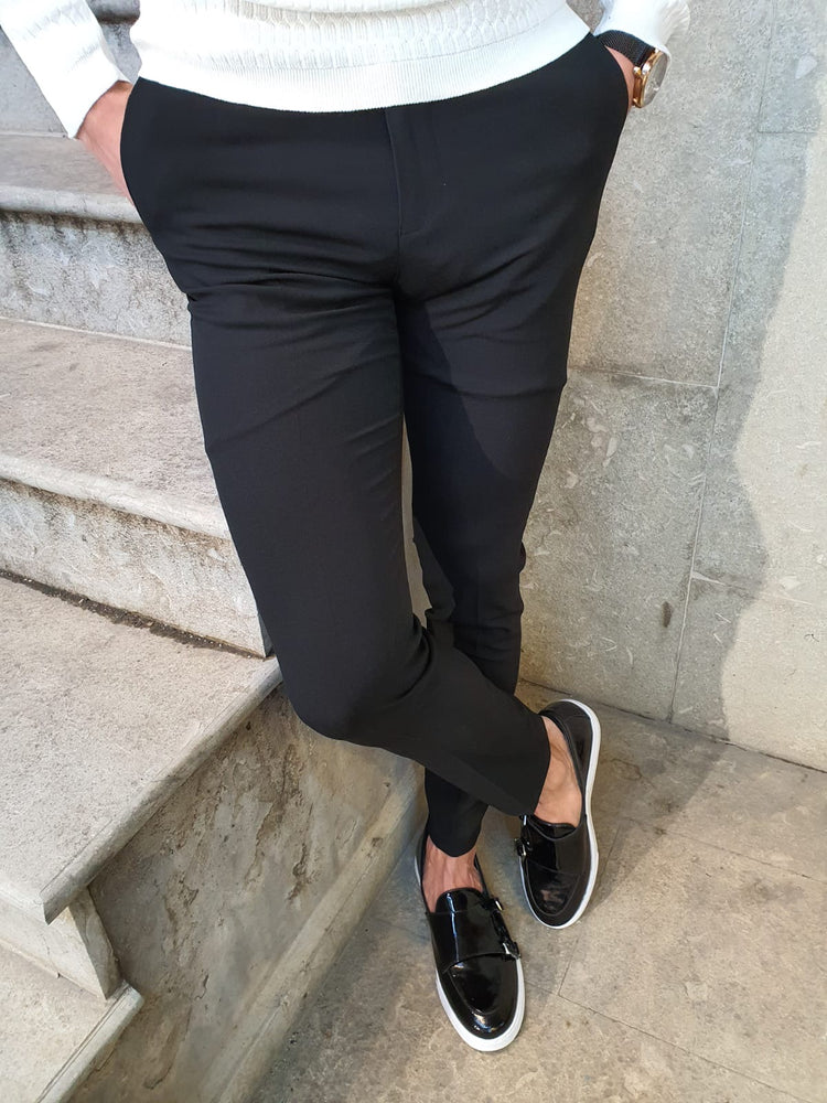 Black Fabric Pants