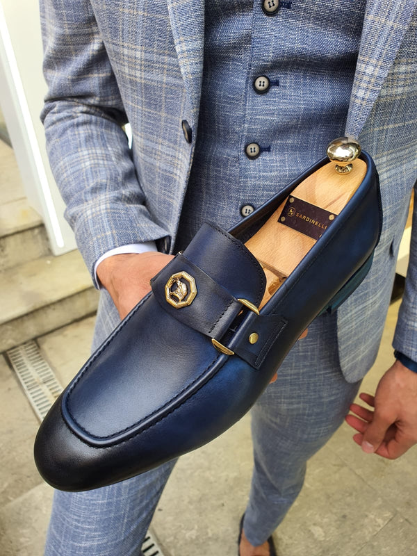Buckle Navy Shoes