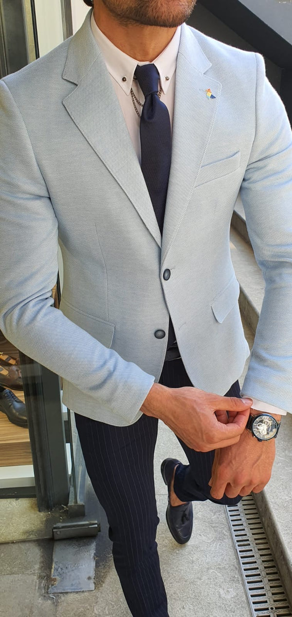 Light Blue Suit Jacket