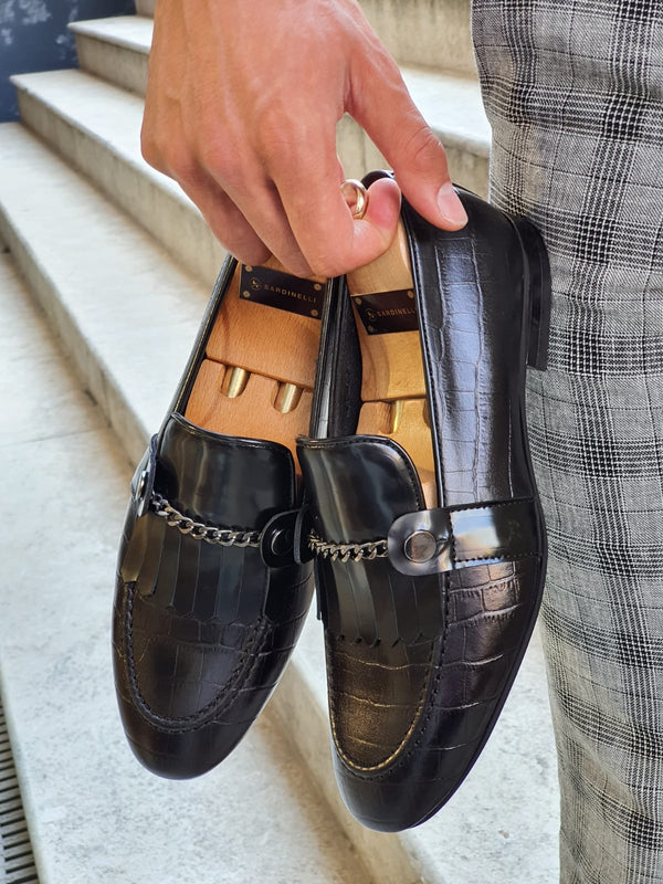 Buckle Leather Shoes