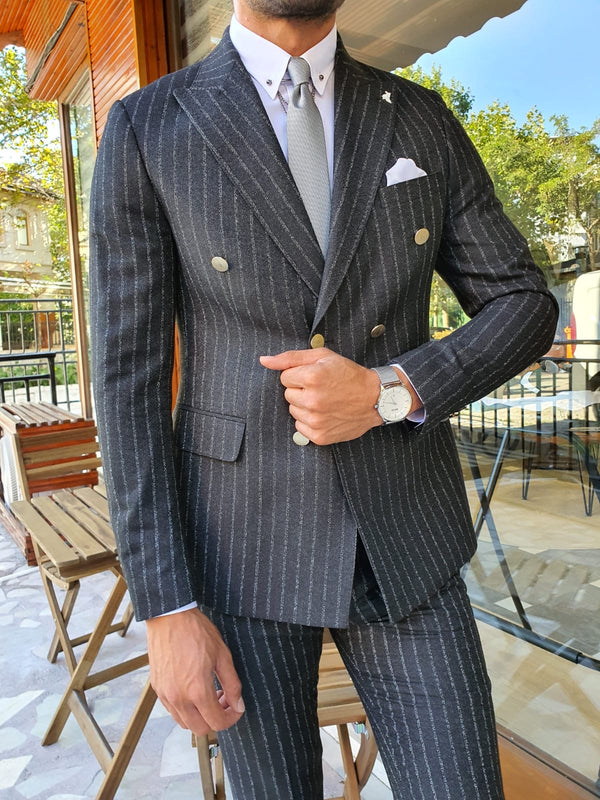 Striped Black Suit